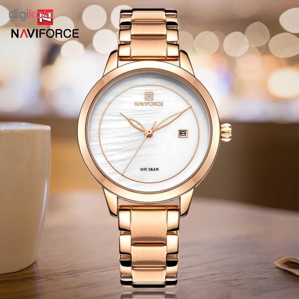 ساعت مچی عقربه ای زنانه نیوی فورس مدل NF5008-RGW main 1 2