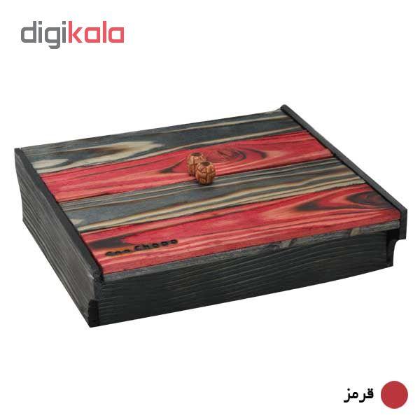 جعبه پذیرایی کن چوب مدل گنجینه