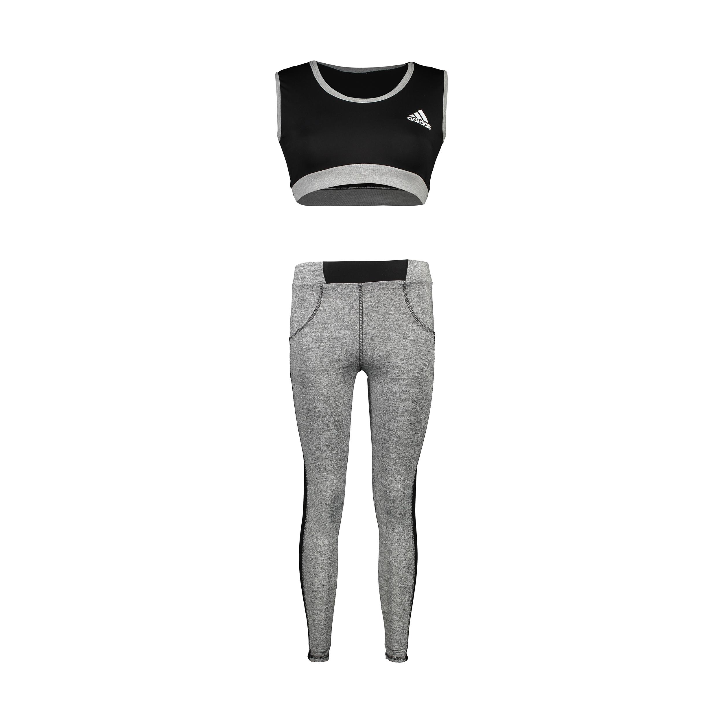 ست نیم تنه و لگینگ ورزشی زنانه کد PL156