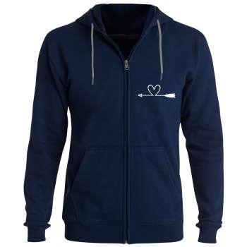 سویشرت زنانه طرح قلب کد F99 رنگ سرمه ای