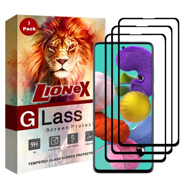 محافظ صفحه نمایش 5D لایونکس مدل CRM مناسب برای گوشی موبایل سامسونگ Galaxy A71 بسته سه عددی