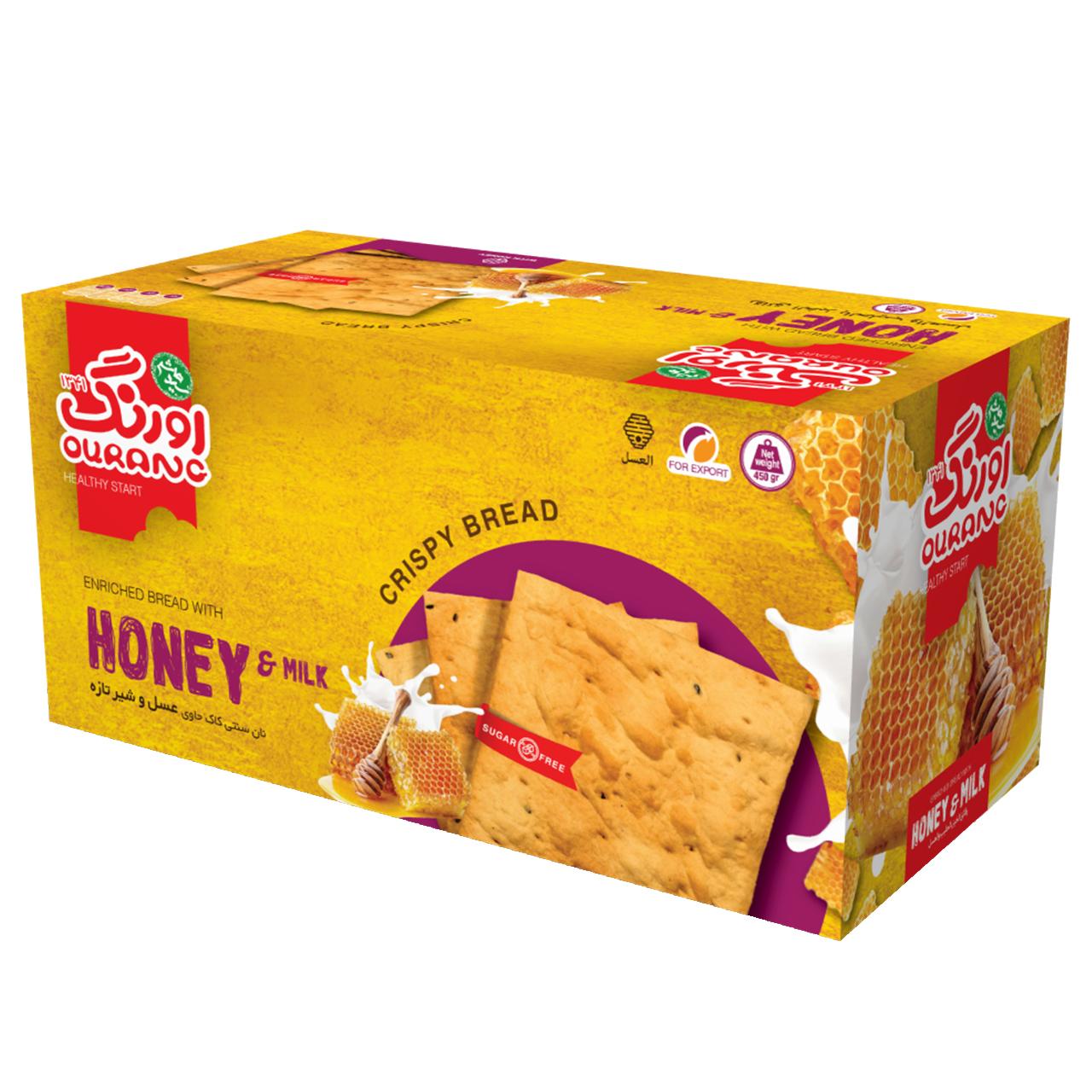 نان سنتی کاک حاوی شیر و عسل اورنگ مقدار 400 گرم