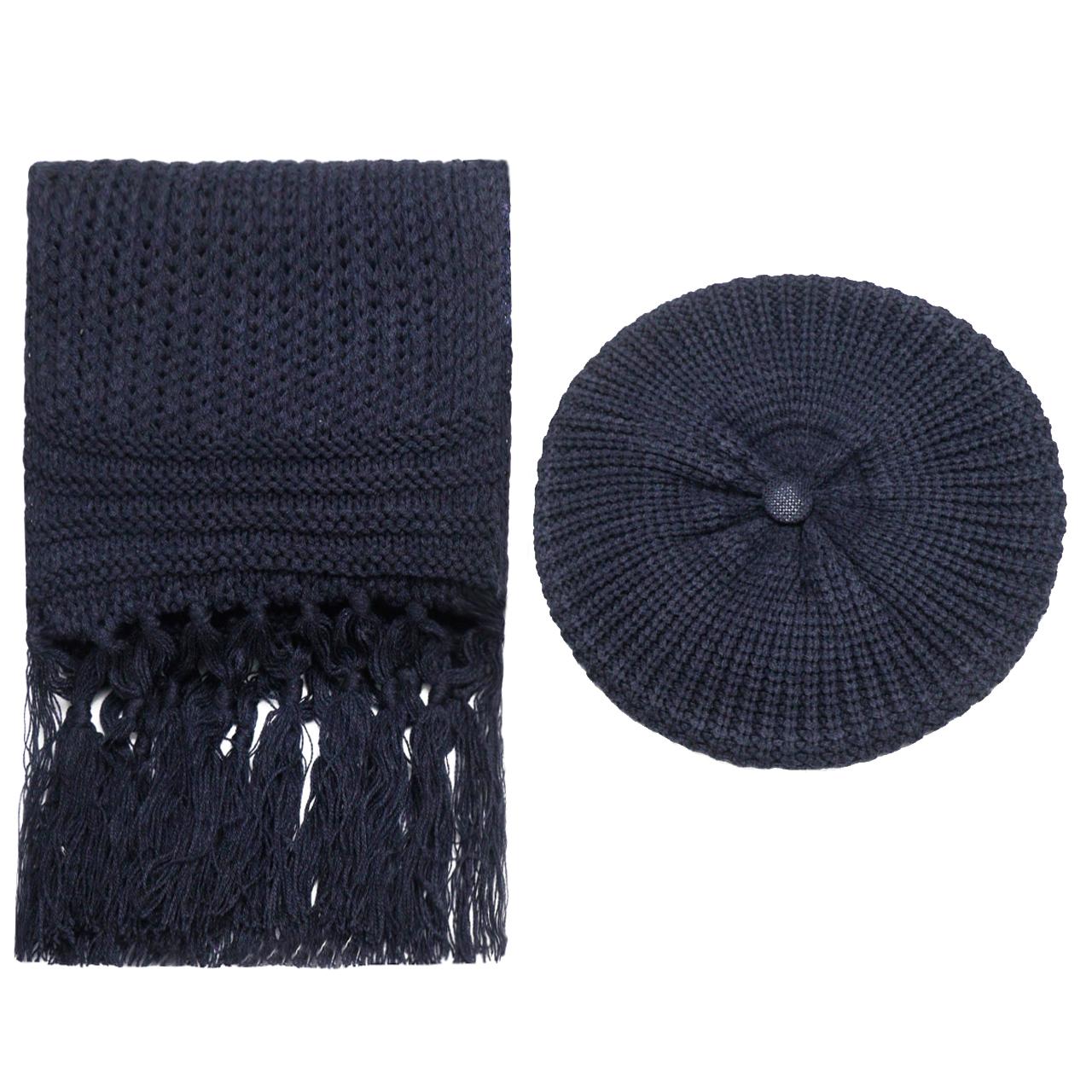 ست کلاه و شال گردن بافتنی زنانه کد Tp_44194-68