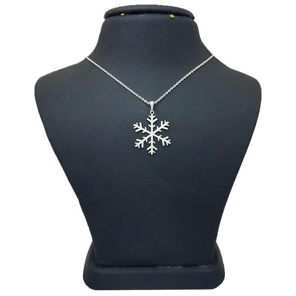 گردنبند نقره زنانه ترمه 1 طرح برف کد A3