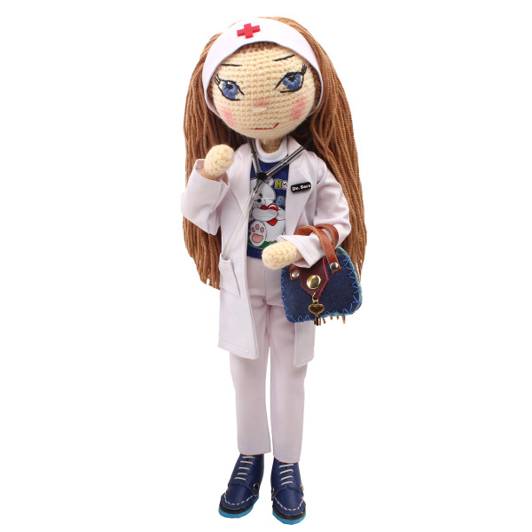 عروسک بافتنی پریا مدل Sara01