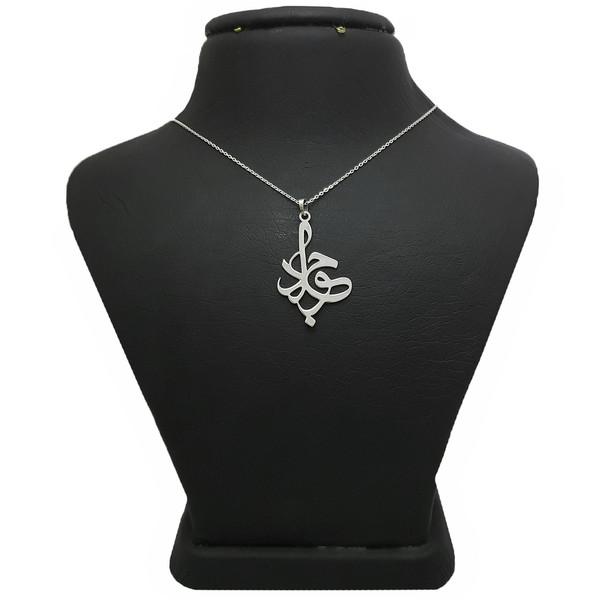 گردنبند نقره مردانه ترمه 1 طرح جواد کد A12