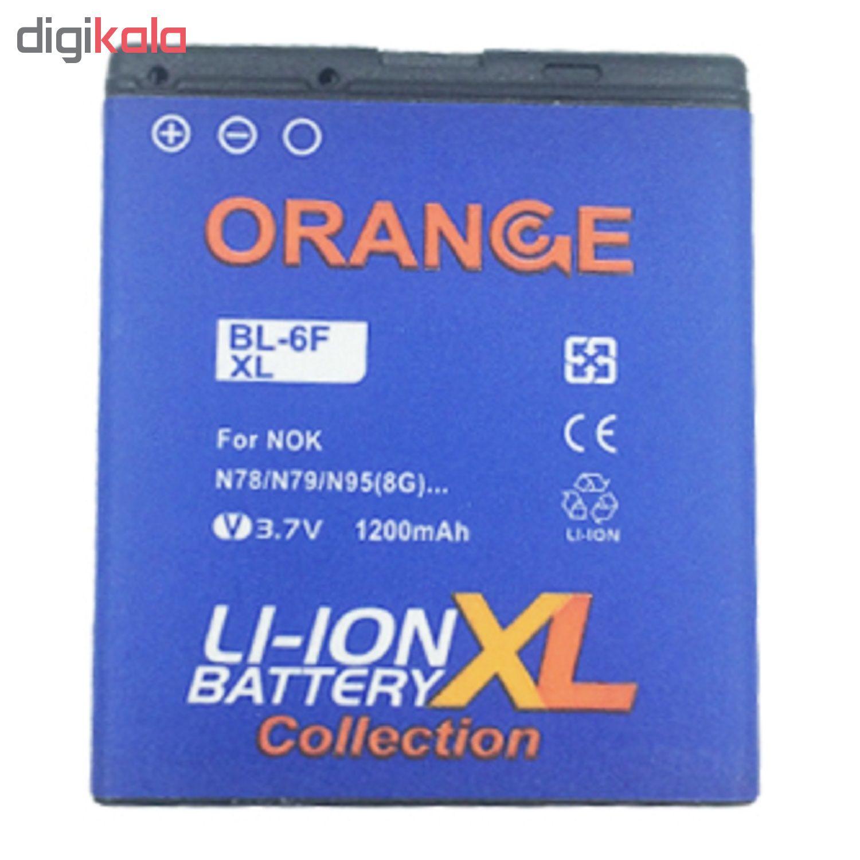 باتری موبایل مدل BP-6F ظرفیت 1200 میلی آمپر ساعت مناسب برای گوشی موبایل نوکیا N78 main 1 1