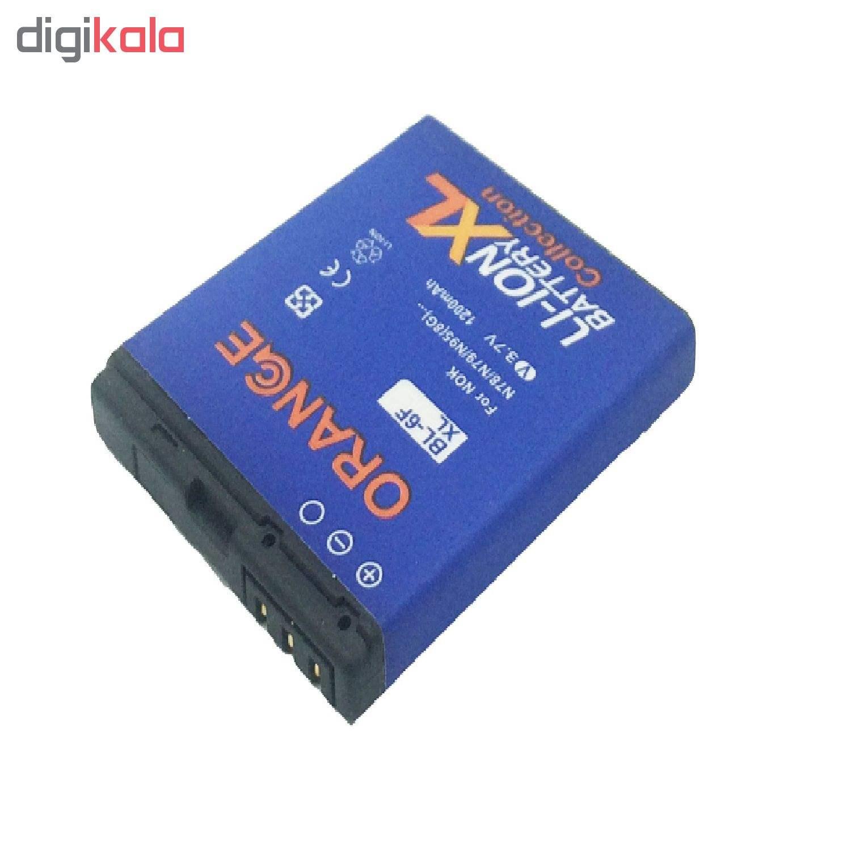 باتری موبایل مدل BP-6F ظرفیت 1200 میلی آمپر ساعت مناسب برای گوشی موبایل نوکیا N78 main 1 3