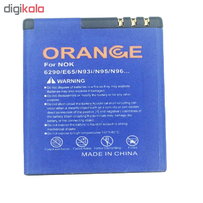 باتری موبایل مدل BP-5F ظرفیت 1000 میلی آمپر ساعت مناسب برای گوشی موبایل نوکیا N95 main 1 2