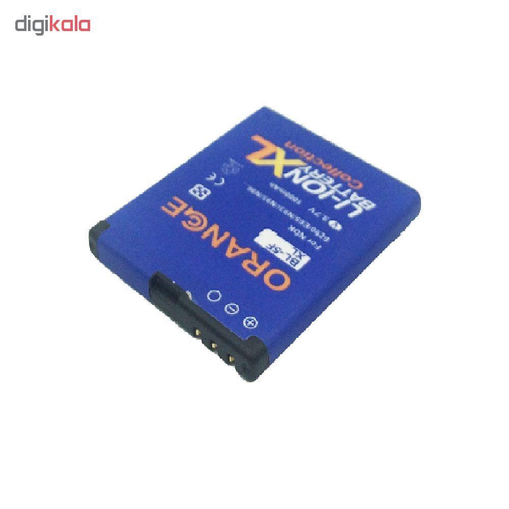 باتری موبایل مدل BP-5F ظرفیت 1000 میلی آمپر ساعت مناسب برای گوشی موبایل نوکیا N95 main 1 3