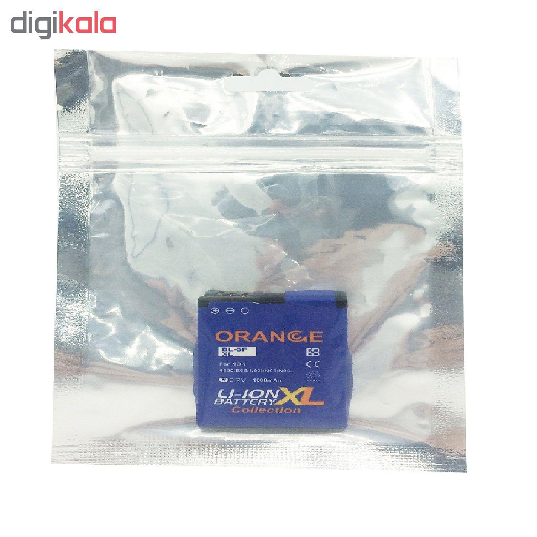 باتری موبایل مدل BP-5F ظرفیت 1000 میلی آمپر ساعت مناسب برای گوشی موبایل نوکیا N95 main 1 4
