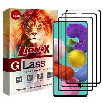 محافظ صفحه نمایش 5D لایونکس مدل CRM مناسب برای گوشی موبایل سامسونگ Galaxy A51 بسته سه عددی