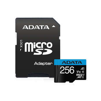 کارت حافظه microSDXC ای دیتا مدل premier کلاس 10 استاندارد UHS-I U1 سرعت 100 MBps ظرفیت 256 گیگابایت به همراه آداپتور SD