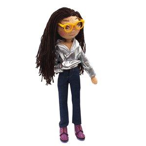 عروسک بافتنی پریا مدل Pari01