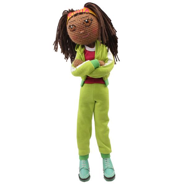 عروسک بافتنی پریا مدل Kimia01