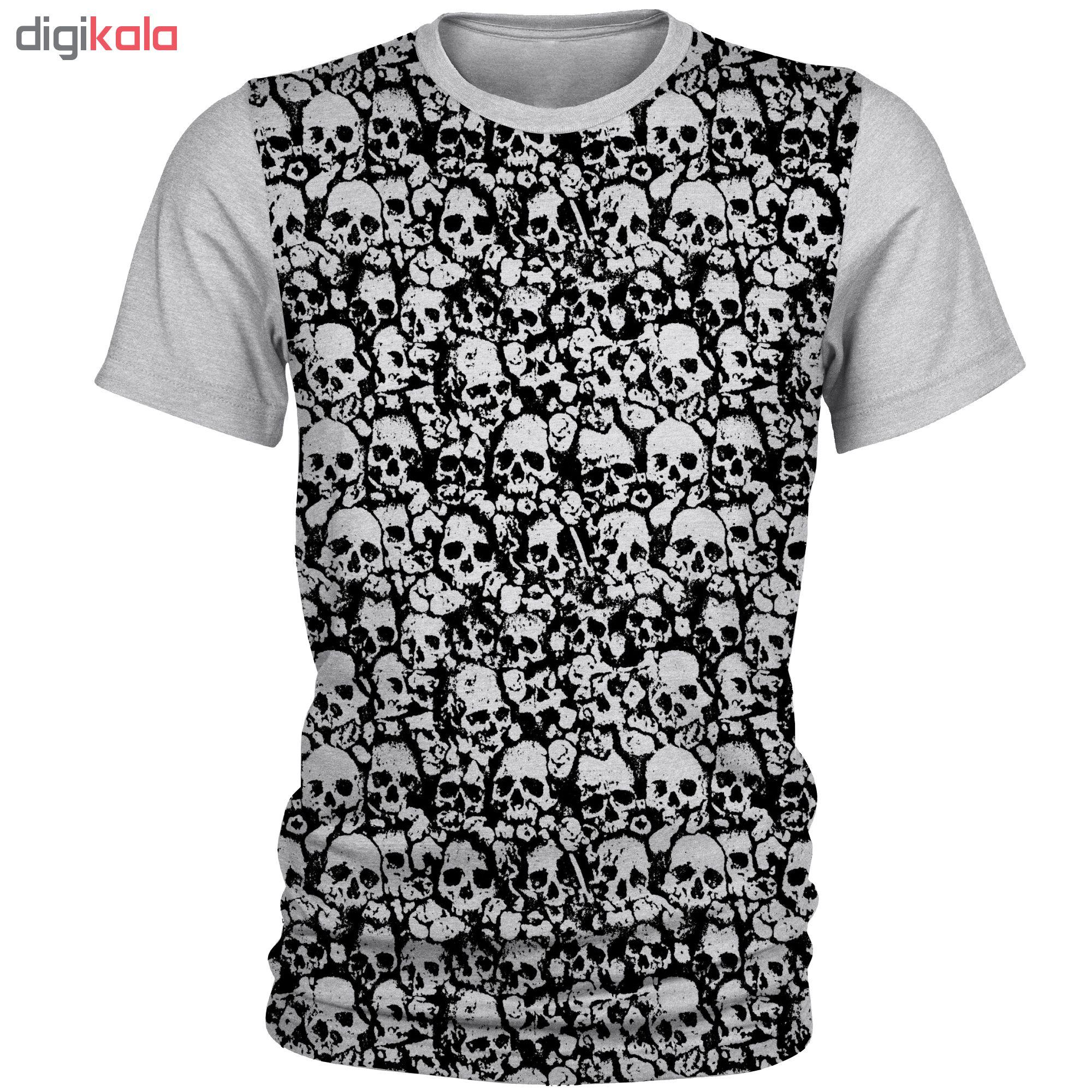 تی شرت آستین کوتاه مردانه طرح اسکلت مدل AL1