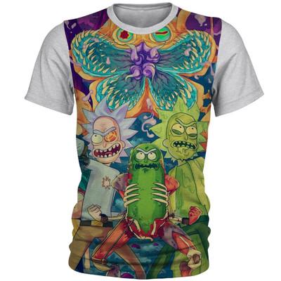 تصویر تی شرت آستین کوتاه مردانه طرح ریک و مورتی مدل AL5