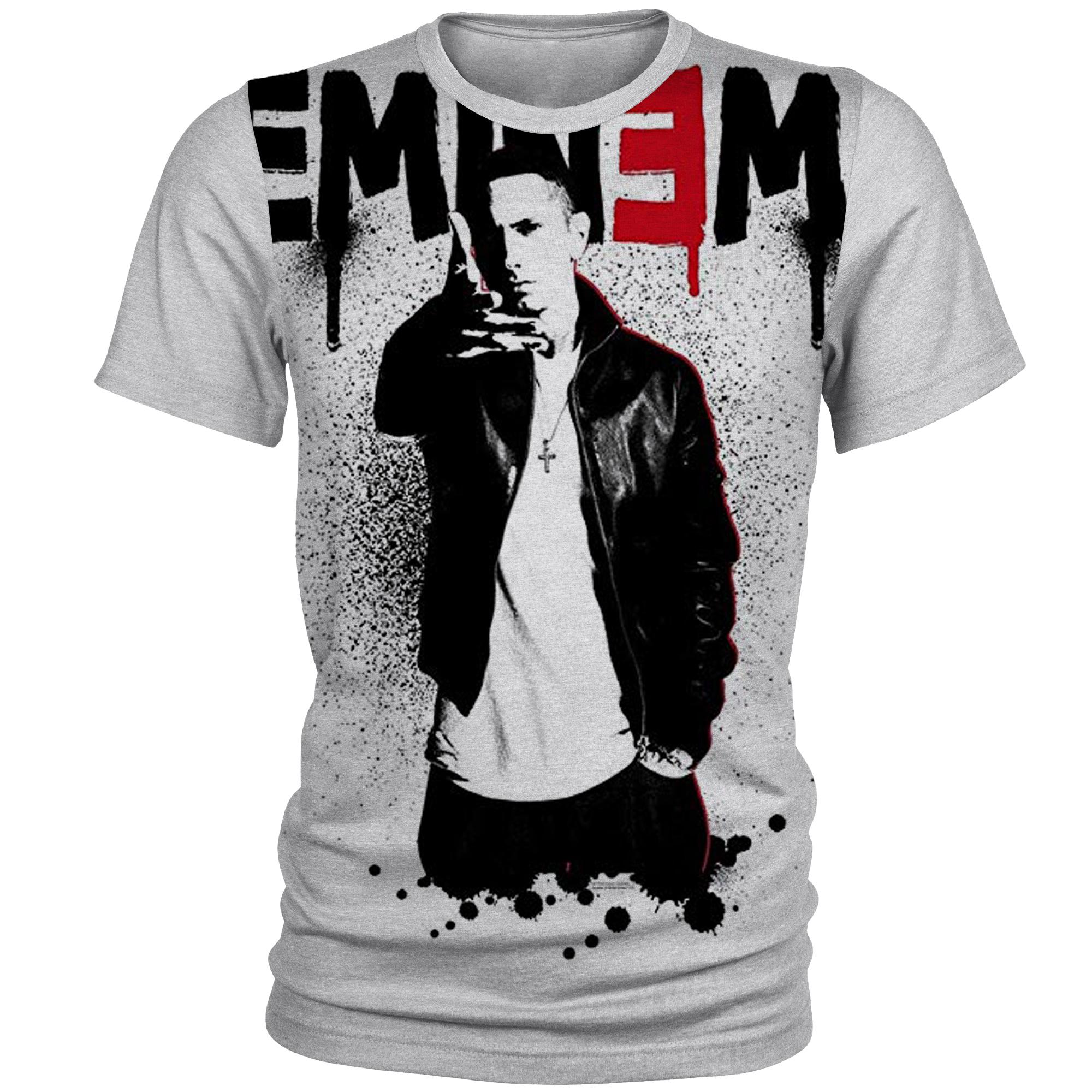 تی شرت آستین کوتاه مردانه طرح Eminem مدل AL10