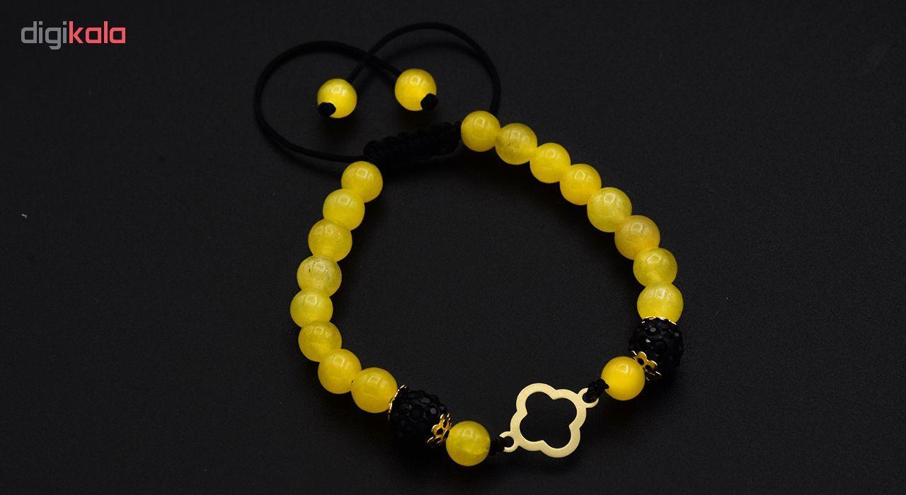 دستبند طلا 18 عیار نه آمانژ کد 839D3245