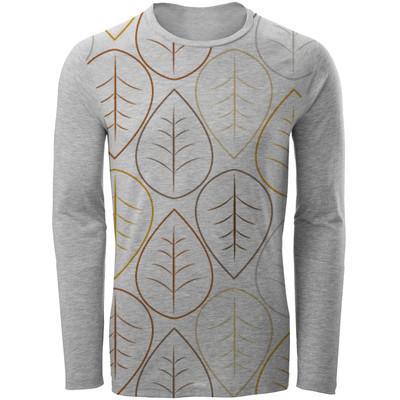 تی شرت آستین بلند مردانه طرح leaf مدل ALB10