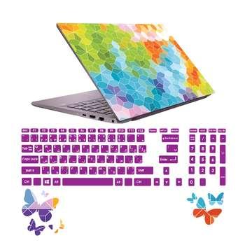 استیکر لپ تاپ صالسو آرت مدل 5019 hk به همراه برچسب حروف فارسی کیبورد