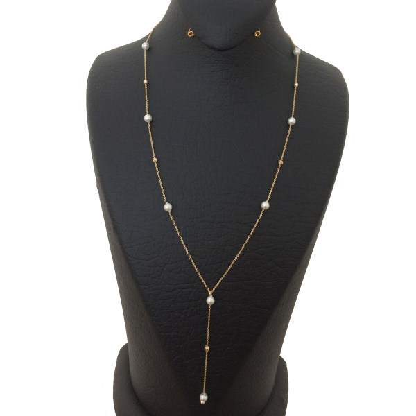 گردنبند طلا 18 عیار زنانه الماسین آذر کد M04