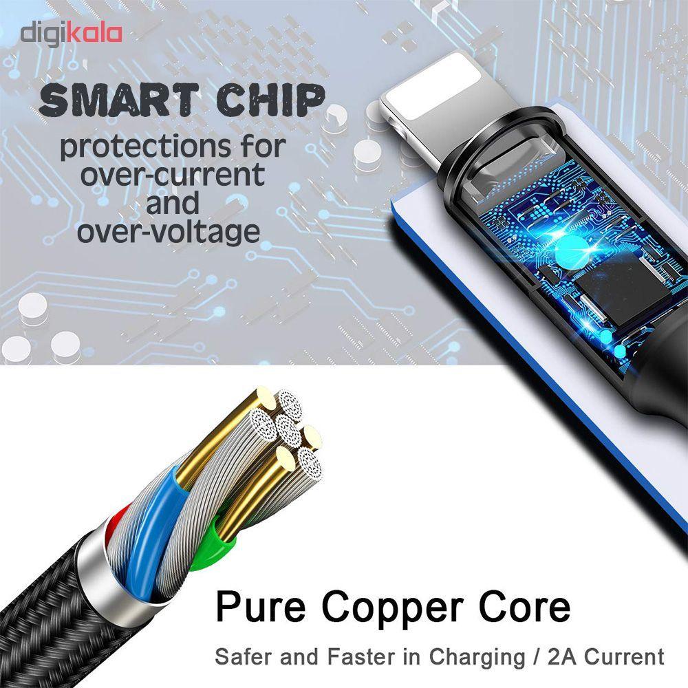 کابل تبدیل USB به لایتنینگ/USB-C/microUSB وایکینگز مدل aio-100 طول 1.2 متر main 1 7
