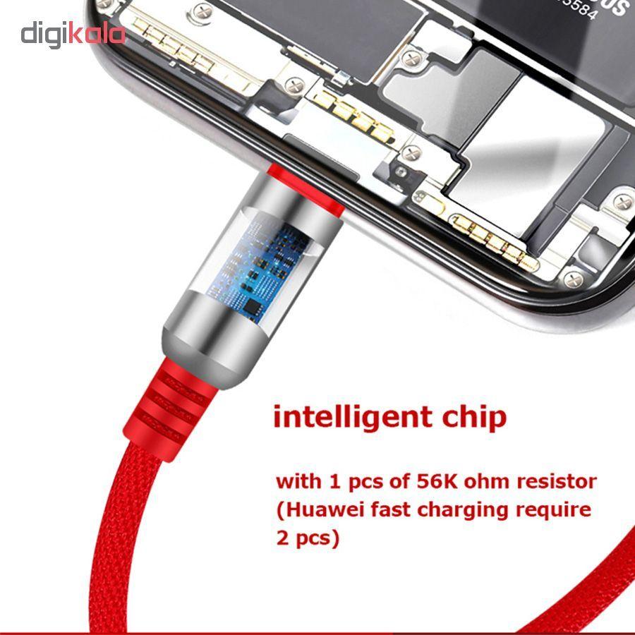 کابل تبدیل USB به لایتنینگ/USB-C/microUSB وایکینگز مدل aio-100 طول 1.2 متر main 1 13