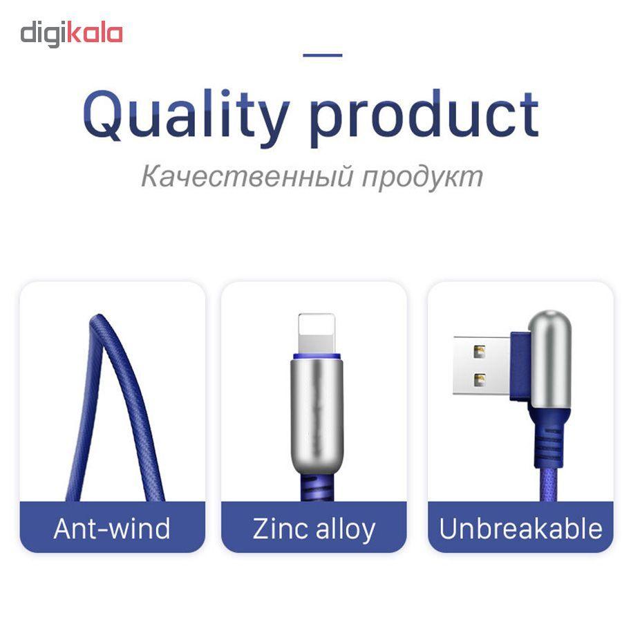 کابل تبدیل USB به لایتنینگ/USB-C/microUSB وایکینگز مدل aio-100 طول 1.2 متر main 1 15