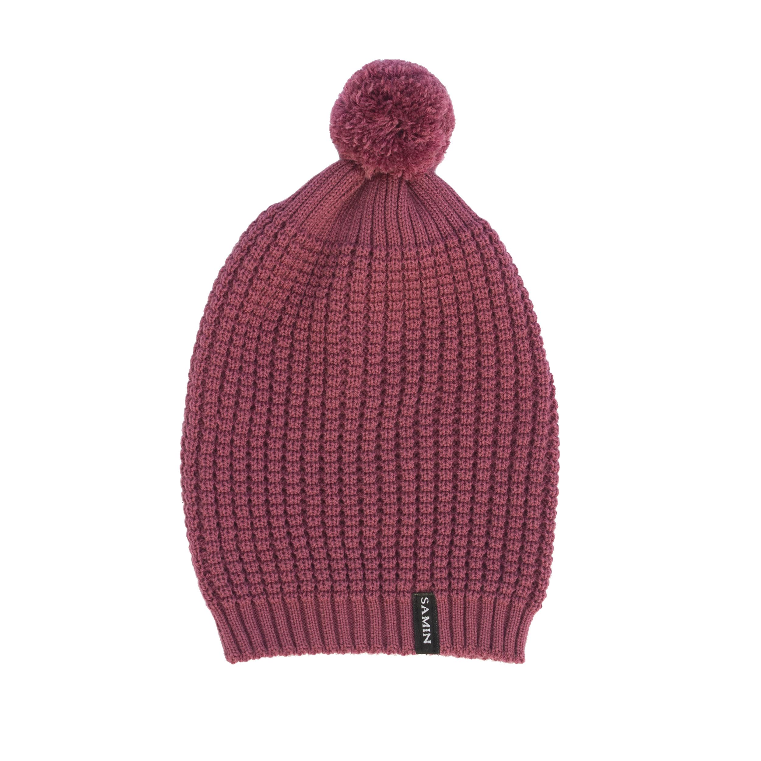 کلاه بافتنی ثمین مدل Athena رنگ بنفش