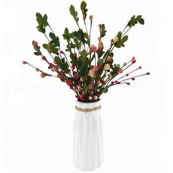 گلدان به همراه گل مصنوعی هومز طرح میوه کد 10175