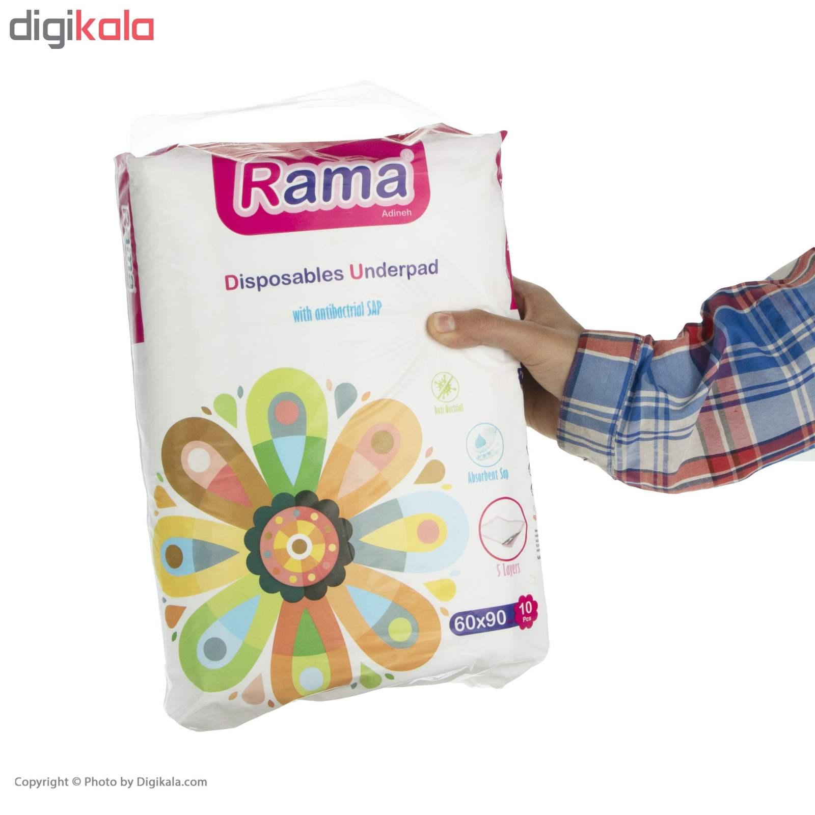 پد زیر انداز بیمار راما مدل antibactrial بسته 10 عددی main 1 3