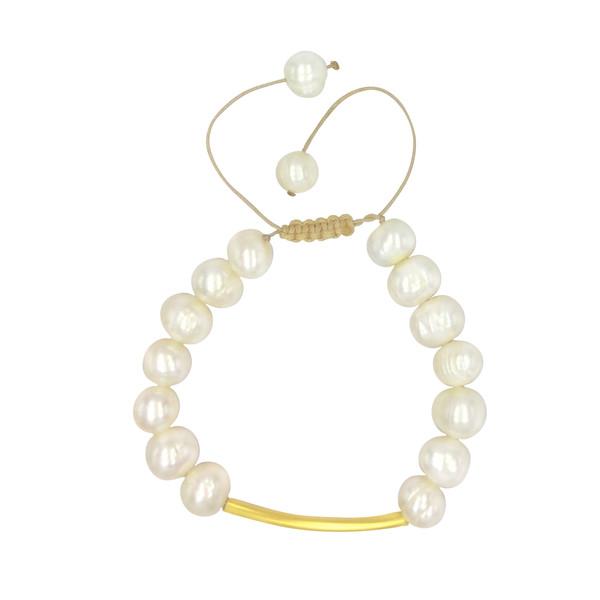 دستبند طلا 18 عیار زنانه الماسین آذر کد 1