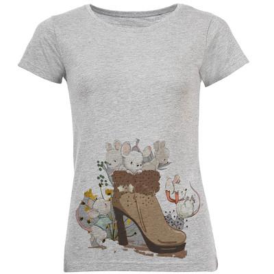 تیشرت زنانه طرح کفش کد R07
