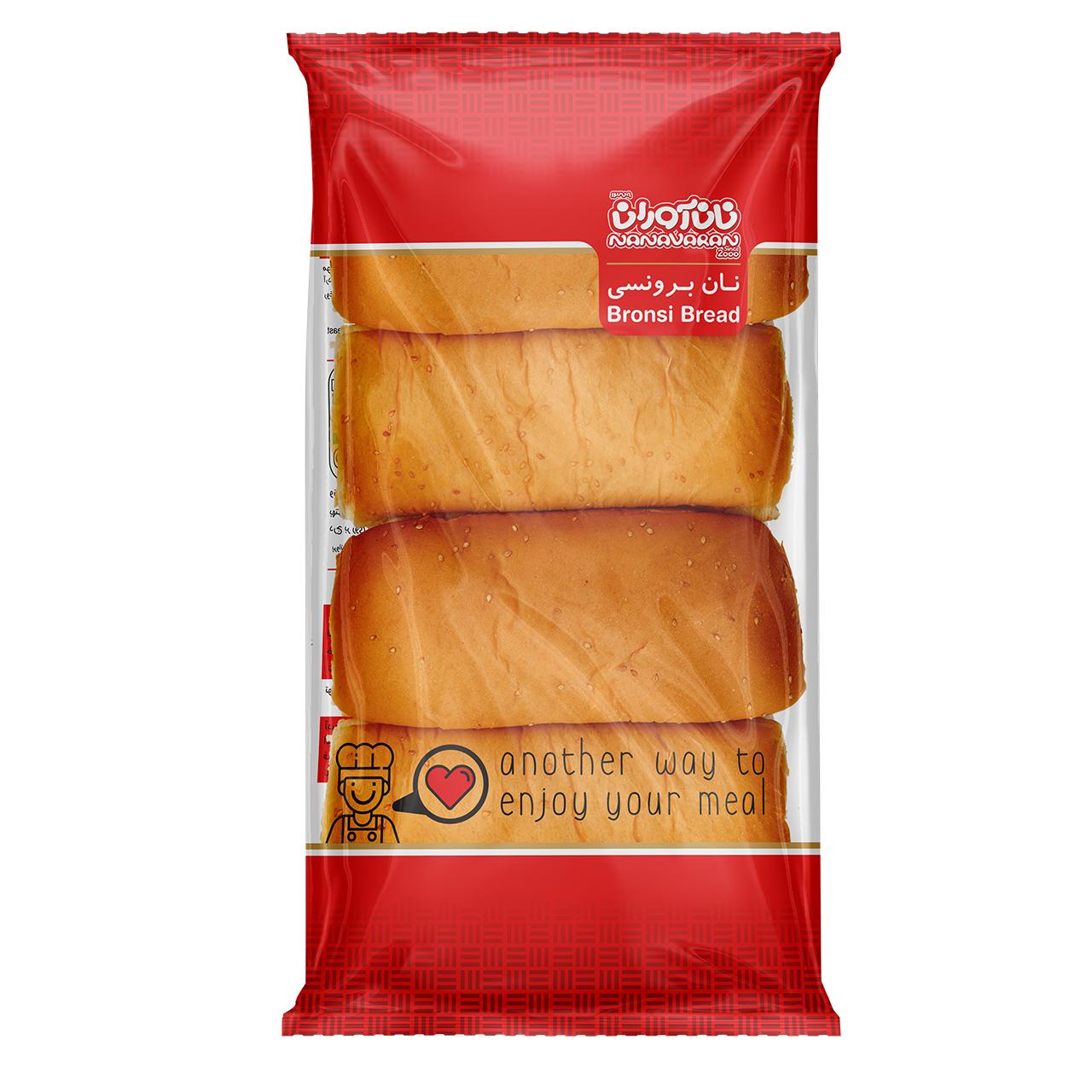 نان برونسی نان آوران بسته چهار عددی