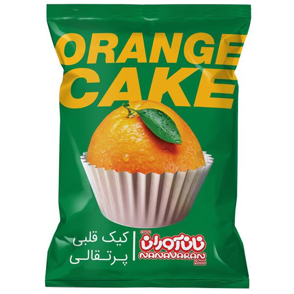 کیک قلبی نان آوران با طعم پرتقال مقدار 60 گرم