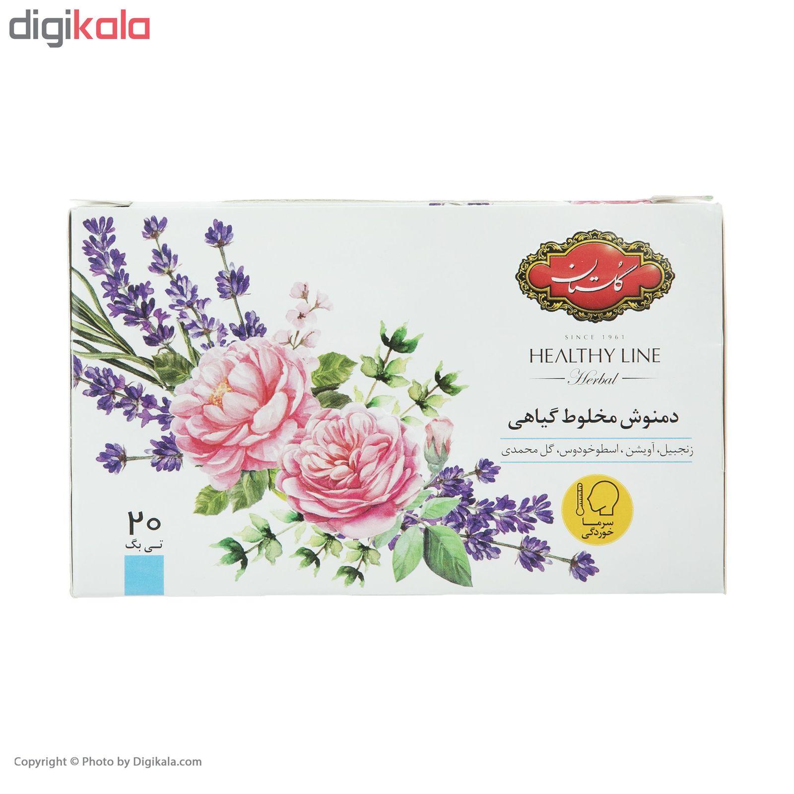 دمنوش مخلوط گیاهی گلستان بسته 20 عددی main 1 2