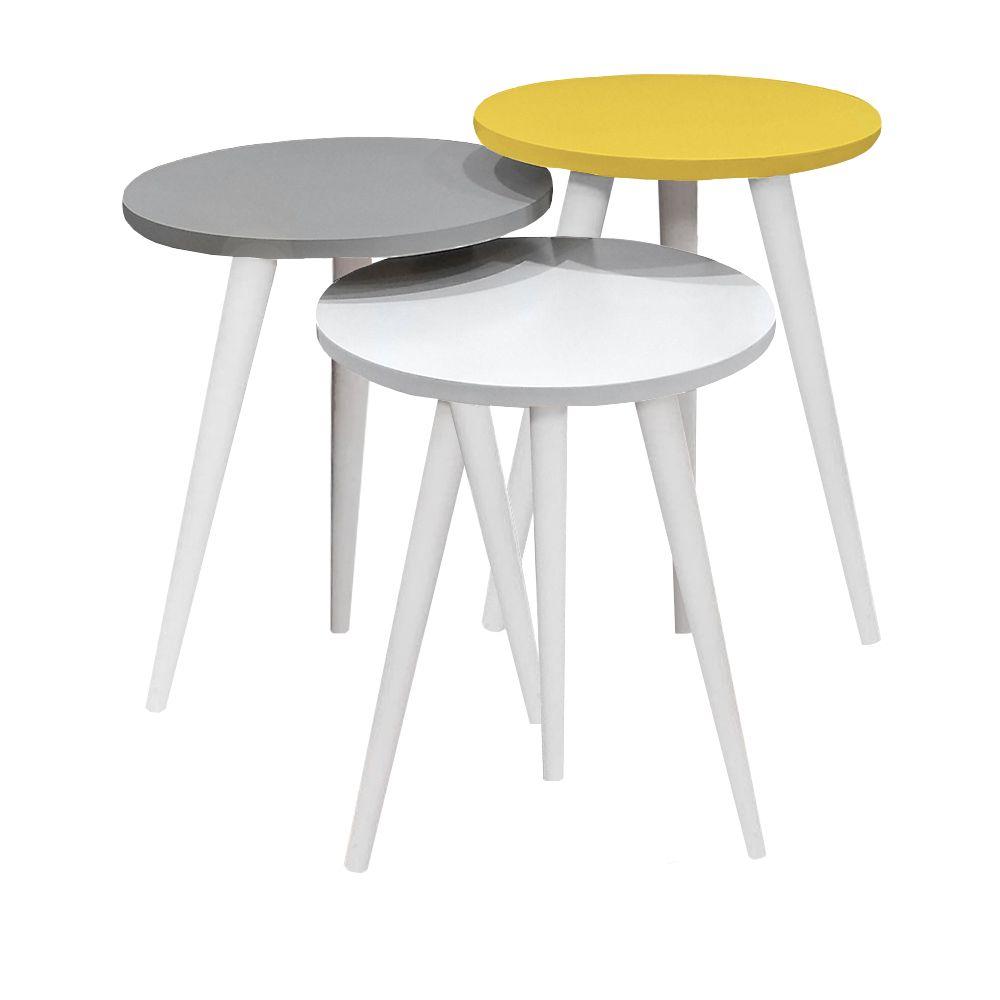 میز عسلی مدل 456 کد 20 مجموعه 3 عددی