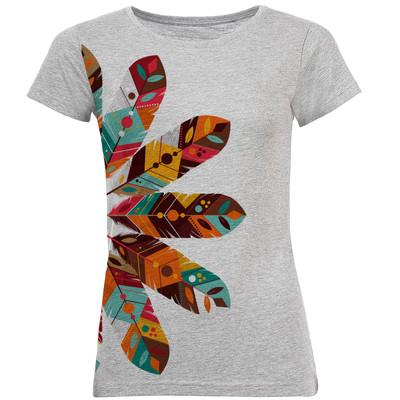 تی شرت آستین کوتاه زنانه طرح پر کد B09