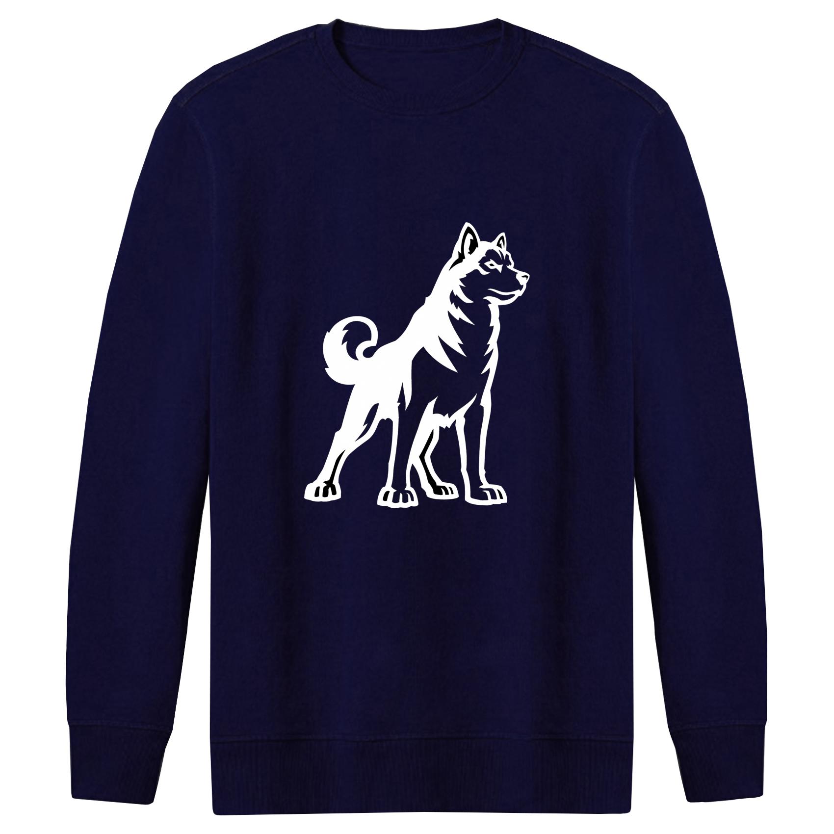سویشرت مردانه طرح سگ کد F114 رنگ سرمه ای