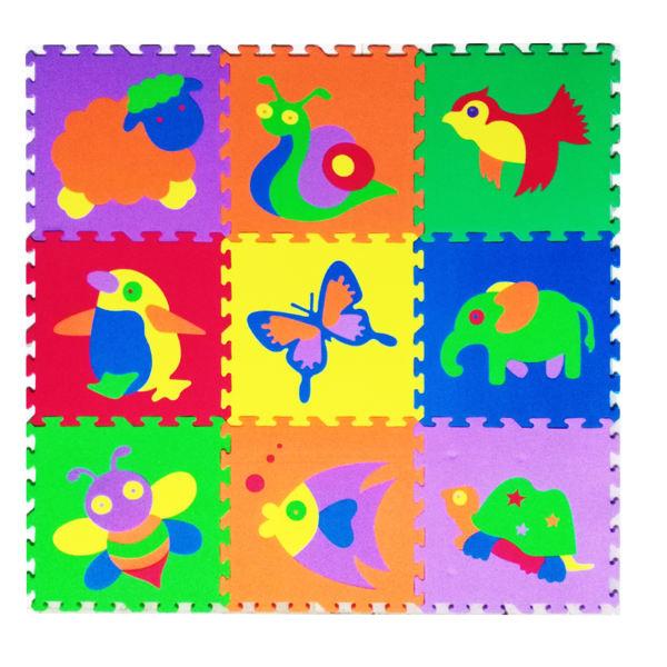 تشک بازی طرح آموزش حیوانات مدل فیلان بسته 9 عددی