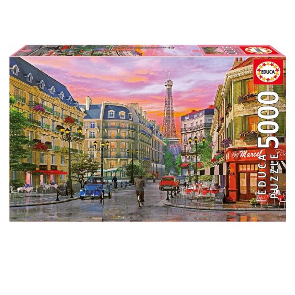 پازل 5000 تکه ادوکا مدل Rue Paris