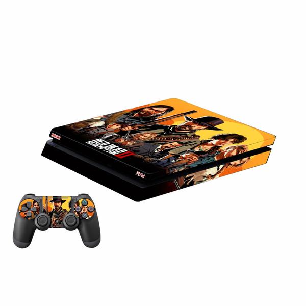 برچسب پلی استیشن 4 اسلیم پلی اینفینی مدل Red Dead Redemption 2 02 به همراه برچسب دسته