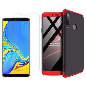 کاور 360 درجه مسیر مدل MGK-MGMJ-1 مناسب برای گوشی موبایل سامسونگ Galaxy A9 2018 به همراه محافظ صفحه نمایش