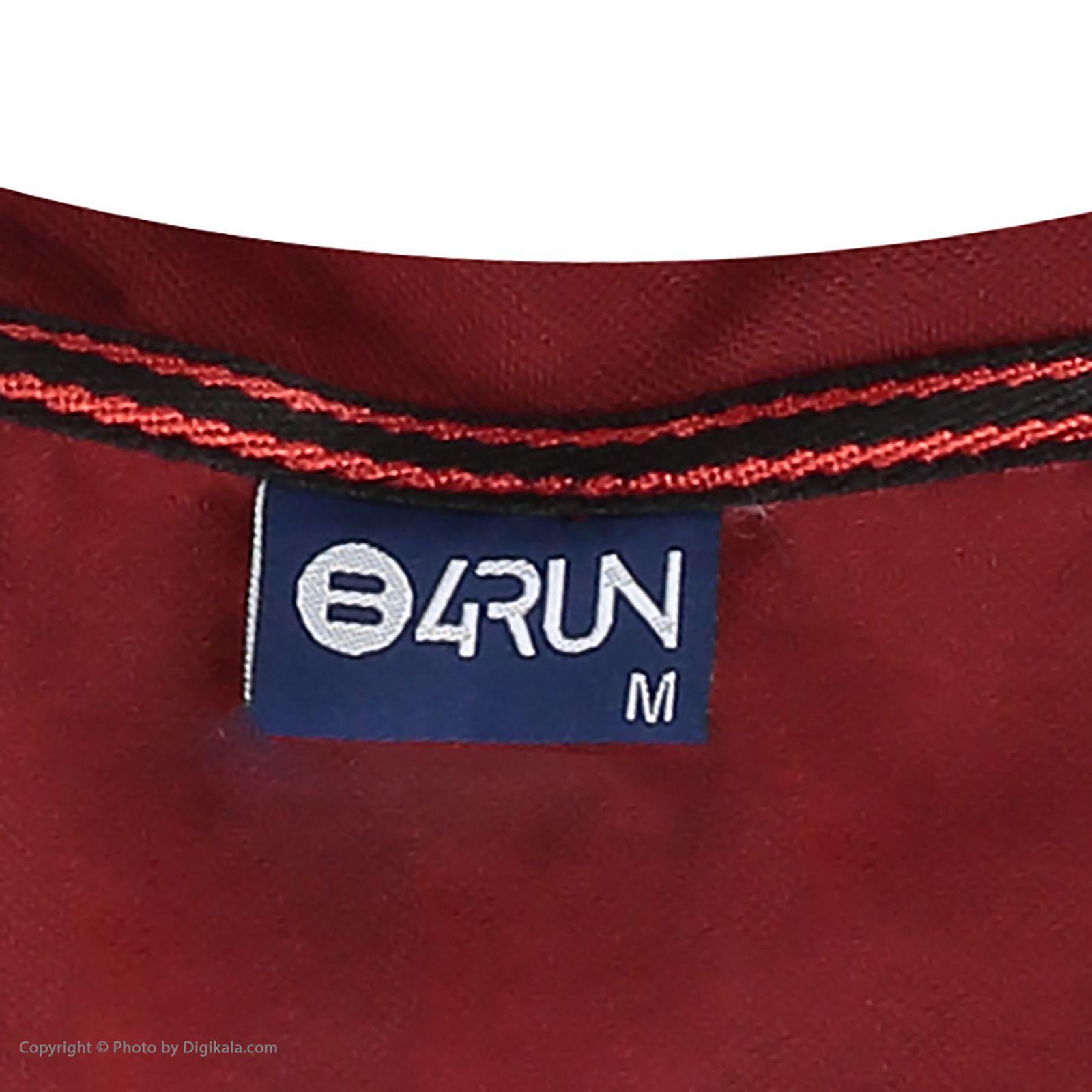 تی شرت ورزشی مردانه بی فور ران مدل 980317-7499 - قرمز - مشکی - 5