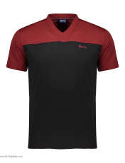 تی شرت ورزشی مردانه بی فور ران مدل 980317-7499 - قرمز - مشکی - 1