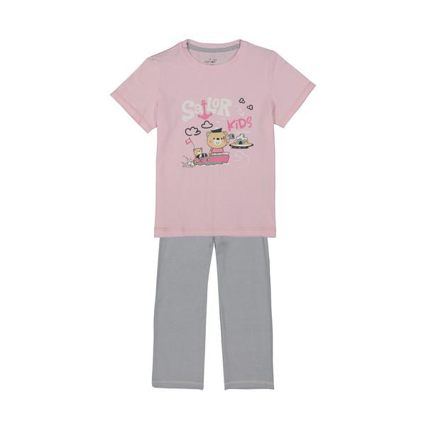 ست تی شرت و شلوار راحتی دخترانه ناربن مدل 1521178-84