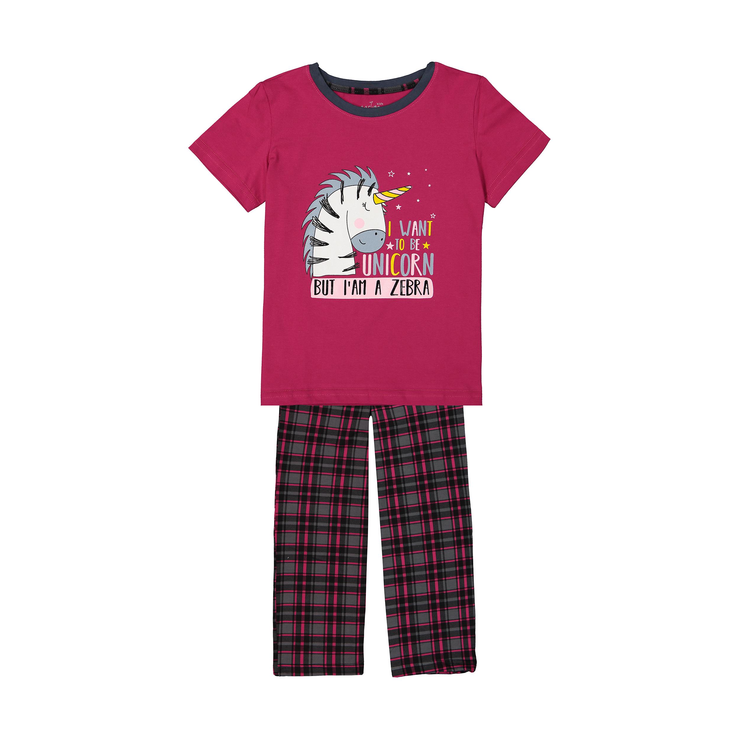 ست تی شرت و شلوار راحتی دخترانه ناربن مدل 1521174-88