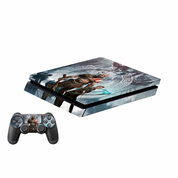 برچسب پلی استیشن 4 اسلیم پلی اینفینی مدل God of War 02 به همراه برچسب دسته