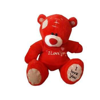 عروسک نینو طرح خرس مدل I Love You ارتفاع 18 سانتی متر